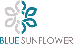 Blue Sunflower Design Logo